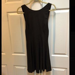 Black backless dress - sleeveless size M